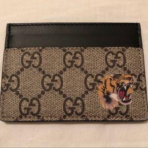 Gucci Gg Tiger Card Case